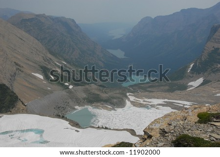 Mountain glacier - stock photo