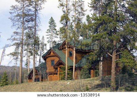 Mountain House in Colorado. - stock photo