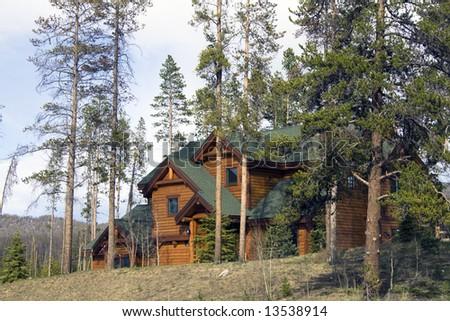 Mountain House in Colorado. - stock photo