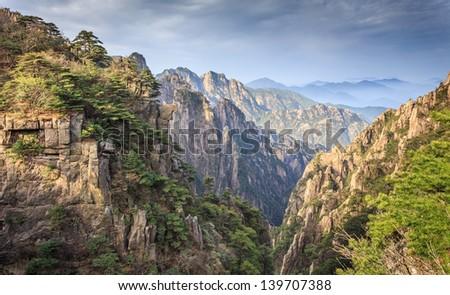 Mountain Huangshan - stock photo