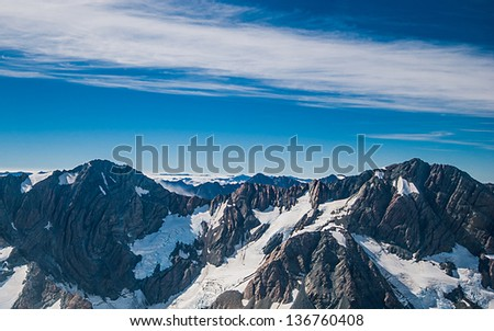 Mountain in Aoraki mount cock national park - stock photo
