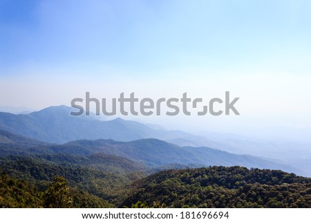 mountain in north thailand - stock photo