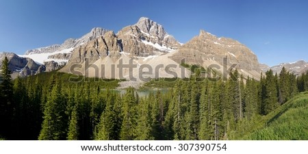 Mountain in the Canadian Rockies - stock photo