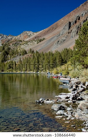Mountain lake, California - stock photo