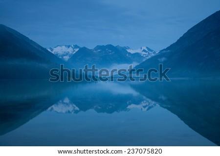 mountain lake in Altai - stock photo