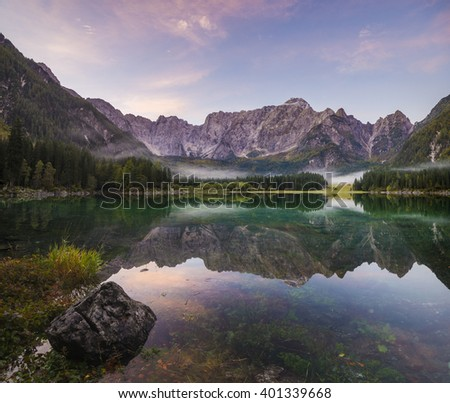 mountain lake in the Alps