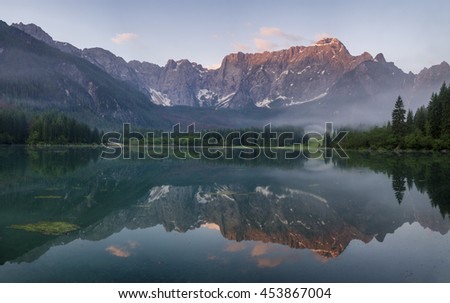 mountain lake in the Italian Alps
