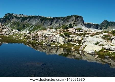 Mountain Lake, Mt. Baker, Washington, USA - stock photo