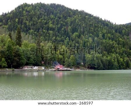 Mountain lake Ritsa