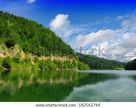 Mountain lake Tara - stock photo