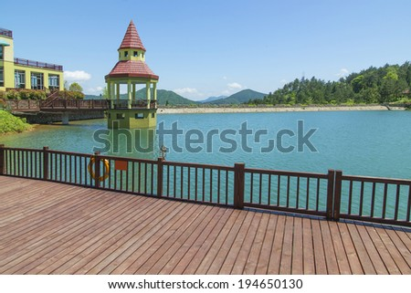 Mountain Lakes building - stock photo