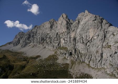 mountain landscape - stock photo