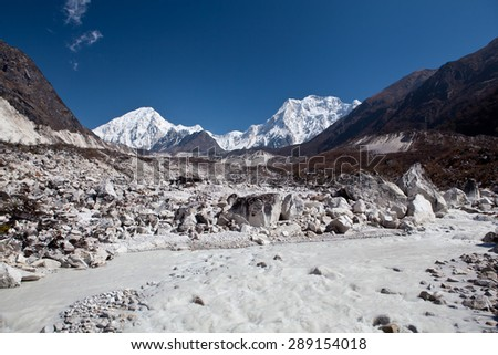 mountain landscape - Himalaya mountains - Nepal