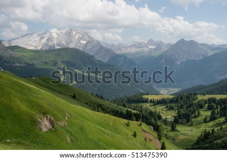Mountain landscape in Dolomites, Italy