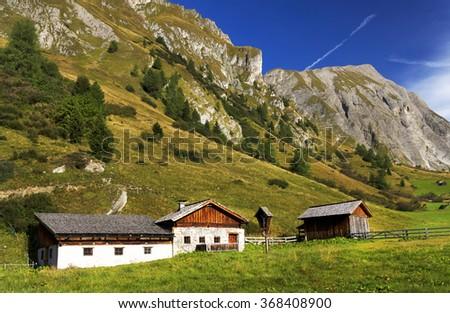 Mountain landscape in Hohe Tauern National Park, Austria, Europe - stock photo