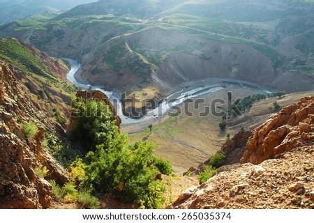 Mountain landscape in Kurdistan, Turkey - stock photo