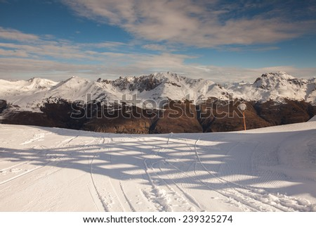 Mountain landscape in Serre Chevalier, French Alps