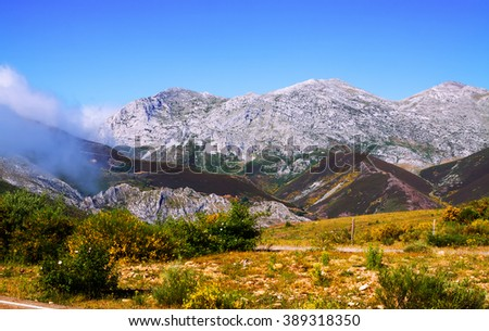 mountain landscape in summer. Leon, Spain