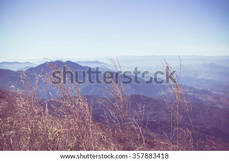 mountain landscape in thailand,Southeast Asia. - stock photo