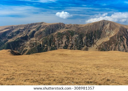 mountain landscape in the Carpathian Mountains, Fagaras, Romania