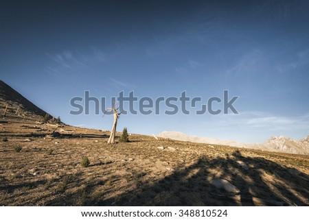 Mountain landscape in the Sierra Nevada mountains, California - stock photo