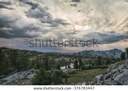 Mountain landscape in the Sierra Nevada mountains, California