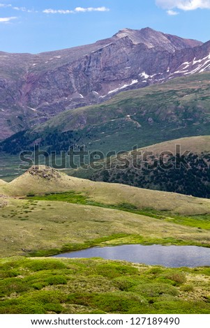 Mountain Landscape Scene in the Colorado Rocky Mountains - stock photo