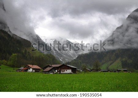 mountain landscape switzerland - stock photo