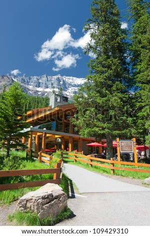 Mountain Lodge at Banff National Park, Alberta, Canada - stock photo