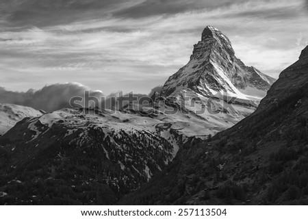 Mountain Matterhorn, Zermatt, Swiss - stock photo