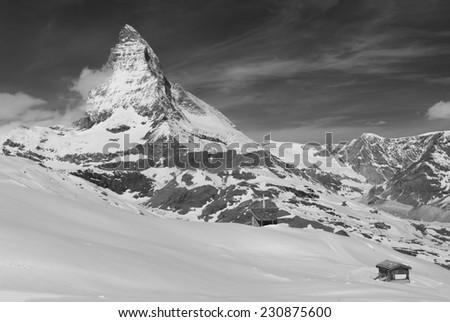 Mountain Matterhorn, Zermatt, Switzerland  - stock photo