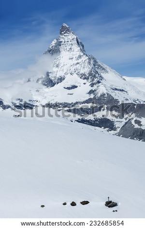 Mountain Matterhorn , Zermatt, Switzerland  - stock photo