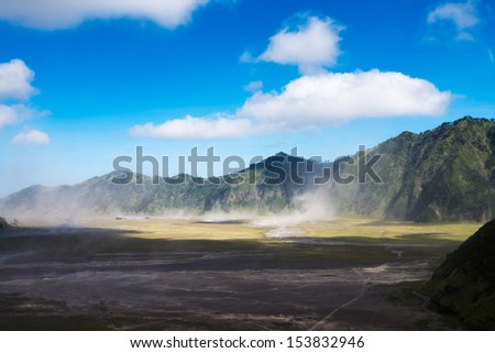 Mountain near Mount Bromo in Bromo Tengger Semeru National Park, East Java, Indonesia