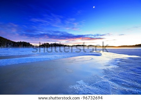 mountain night - stock photo