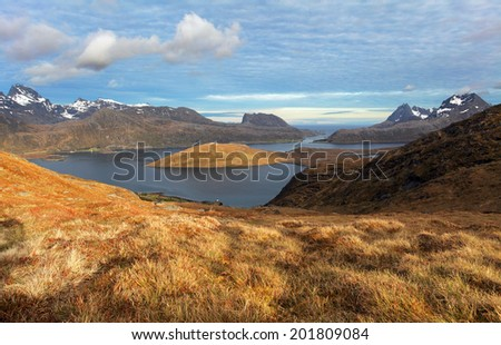 Mountain norway landscape - Lofoten