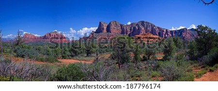 Mountain Panorama in Sedona, Arizona - stock photo