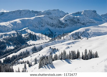 Mountain panorama near Lenk, Switzerland