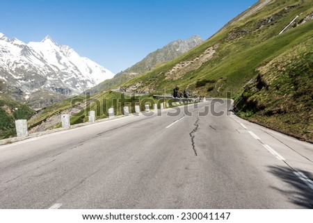 Mountain pass of the Grossglockner High Alpine Road in Austria.