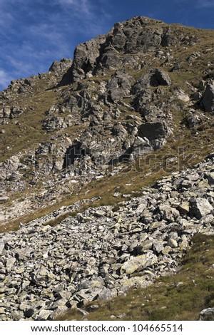 Mountain peak. - stock photo