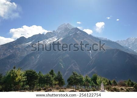 Mountain Peak, Himalayas - stock photo