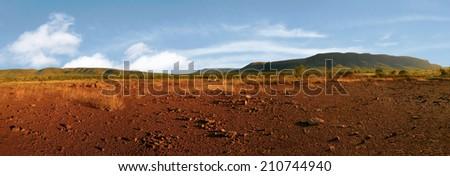 mountain range along the gibb river road western australia - stock photo