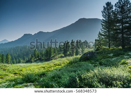 stock-photo-mountain-range-chamar-daban-