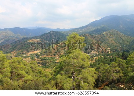 Green mountain range stock images royalty free images vectors mountain range in cyprus sciox Gallery