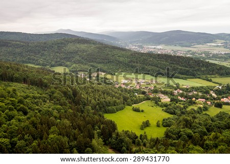 Mountain Range landscape - Snezka / Sniezka - Krkonose / Karkonosze - stock photo