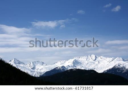 Mountain Range - Whistler, Wilderness in Canada - stock photo