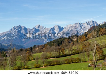 Mountain range Wilder Kaiser in Tirol
