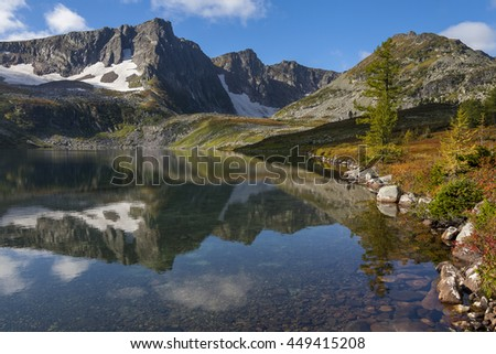 Mountain reflection in the lake