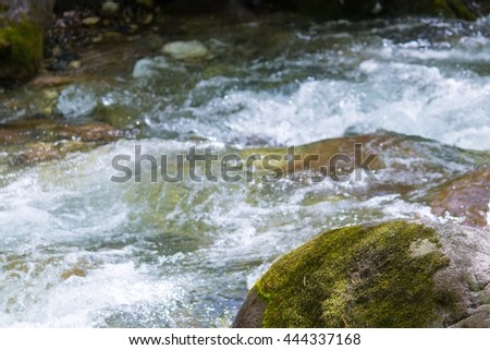 Mountain River at slow shutter speeds