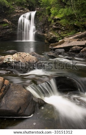 Mountain River in Scotland - stock photo