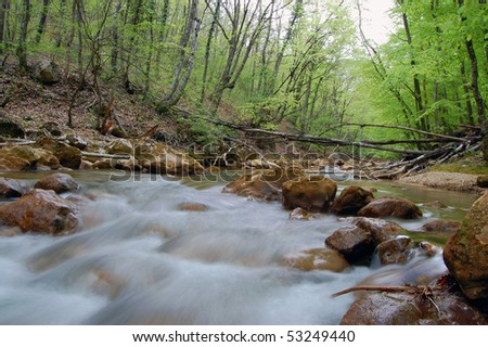 mountain river - long exposure image